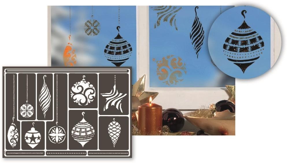 window style design schablone a3 weihnachtsschmuck fenster. Black Bedroom Furniture Sets. Home Design Ideas