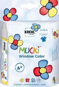 MUCKI Window Color 4er Set