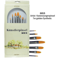 7er Katzenzungen Set Artist Pinsel Syntetic 24-27 cm