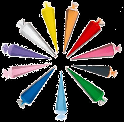 Schultüte Zuckertüte Basteltüte 11 Farben 85cm Tüllverschluß