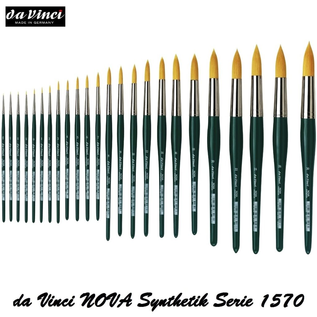 da Vinci Serie 1570 NOVA Aquarellpinsel golden Synthetik