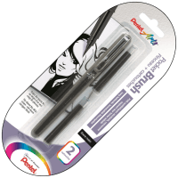 "Pentel Arts ""Pocket Brush Pen"" Taschenpinsel 2 Patronen"