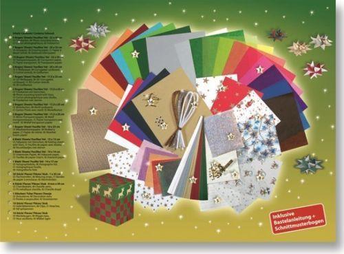 bastel papier koffer weihnachten 110 teile inkl. Black Bedroom Furniture Sets. Home Design Ideas