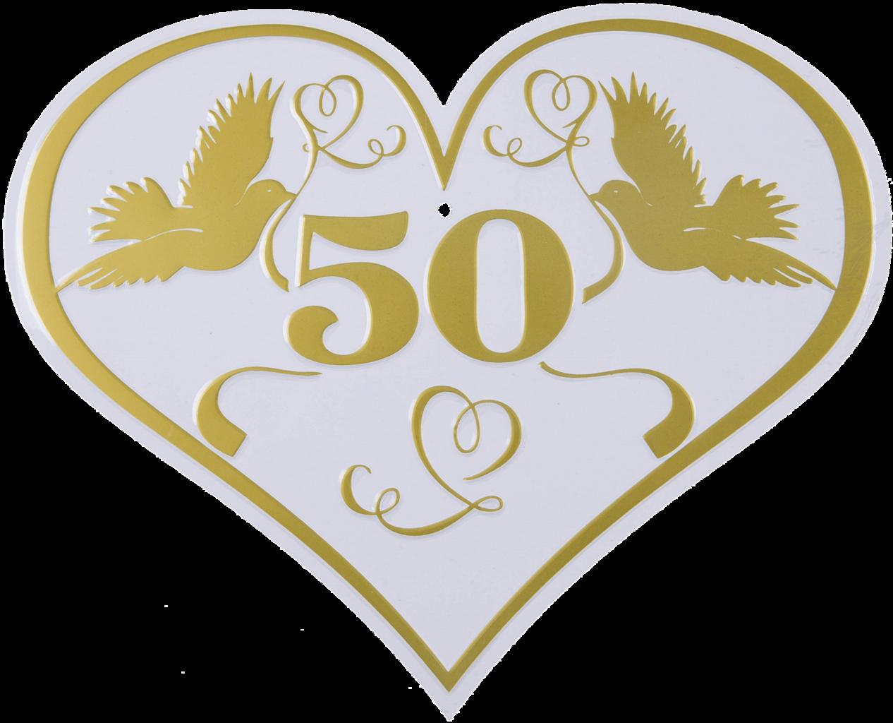 Goldene Hochzeit Blechschild 50 30cm X 25cm