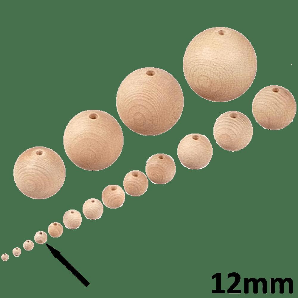 20 Stück Rohholz-Halbkugel natur 12 mm