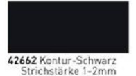 42662 Glass Color Pen Kontur Schwarz