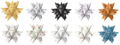 faltbl tter f r bascetta aurelio sterne origami papier bastel set. Black Bedroom Furniture Sets. Home Design Ideas
