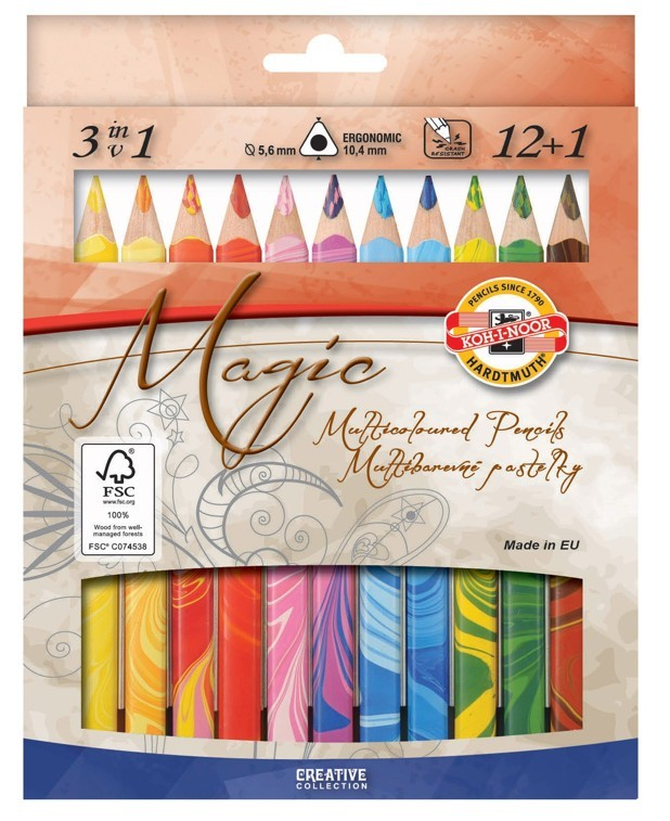 3408-13 Magic Multicoloured Pencils