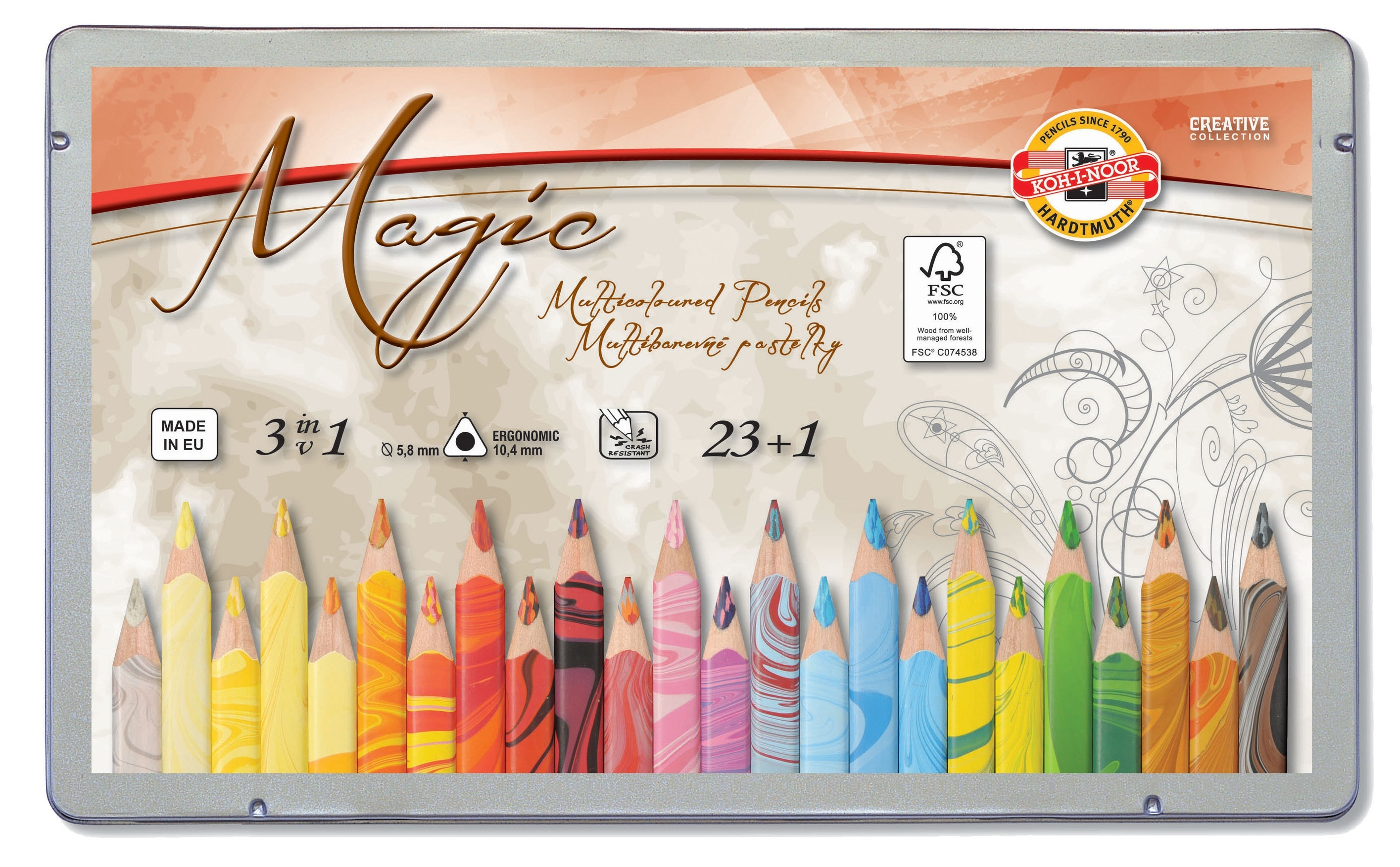 3408-24 Magic Magic Multicoloured Pencils